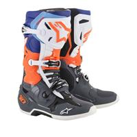Alpinestar Tech 10 2019 42 (US 8) Grå/Blå/Flu Orange