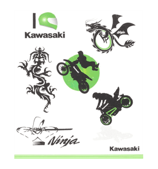 Kawasaki Kid Tattoo Set